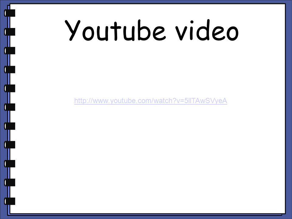 Youtube video http://www.youtube.com/watch?v=5llTAwSVyeA