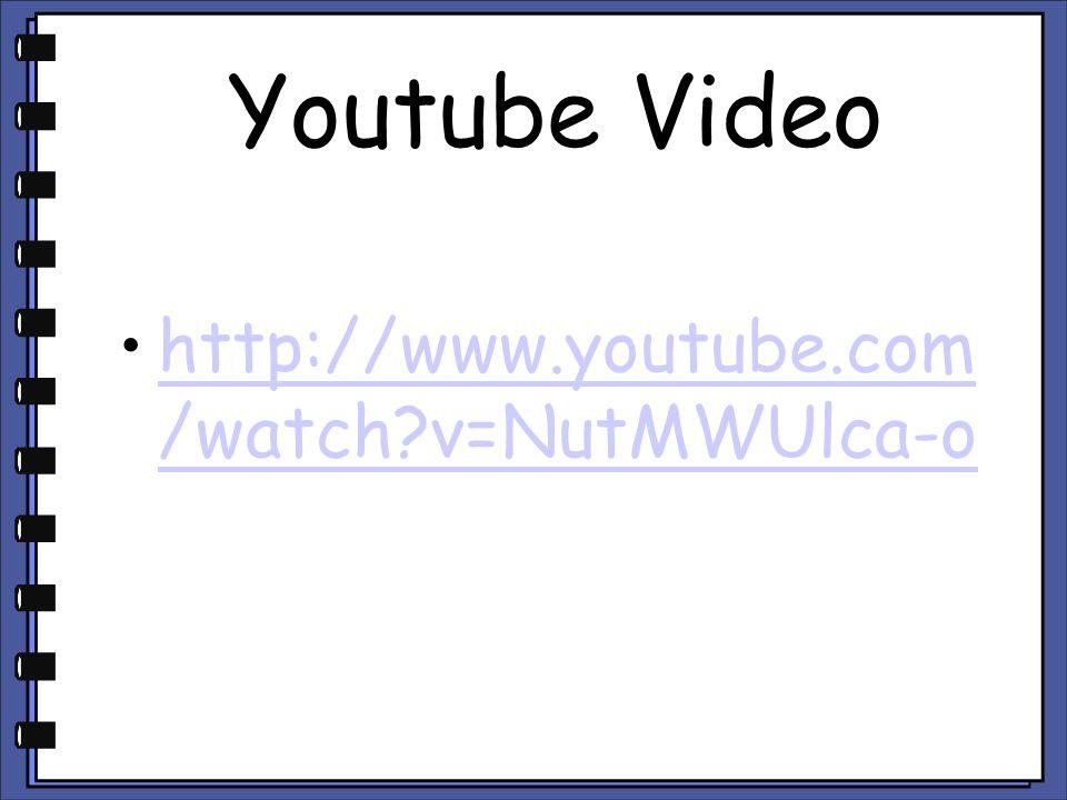 Youtube Video http://www.youtube.com /watch?v=NutMWUlca-ohttp://www.youtube.com /watch?v=NutMWUlca-o