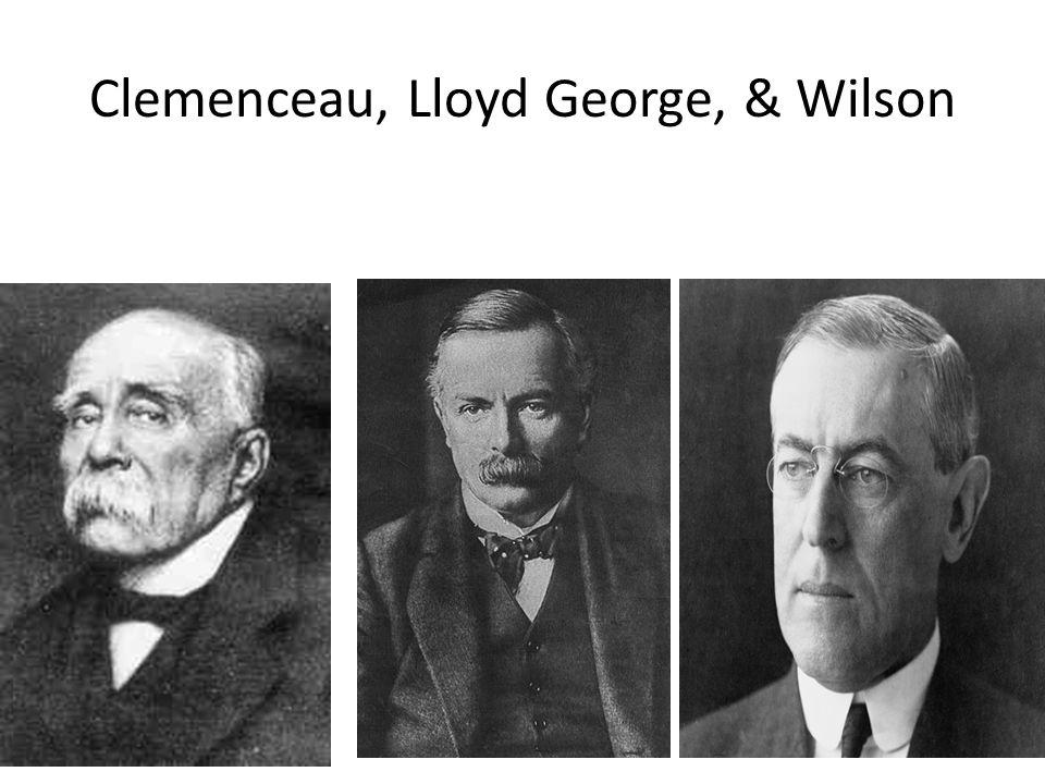 Clemenceau, Lloyd George, & Wilson