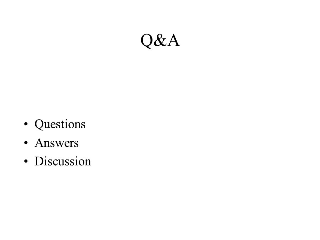 Q&A Questions Answers Discussion