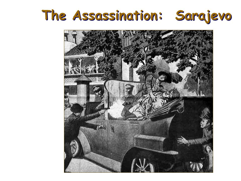ASSASSINATION A Shot Rings Throughout Europe: ~ Amidst all this turmoil in Europe, Archduke Franz Ferdinand and his wife, Sophie, visit Sarajevo, the