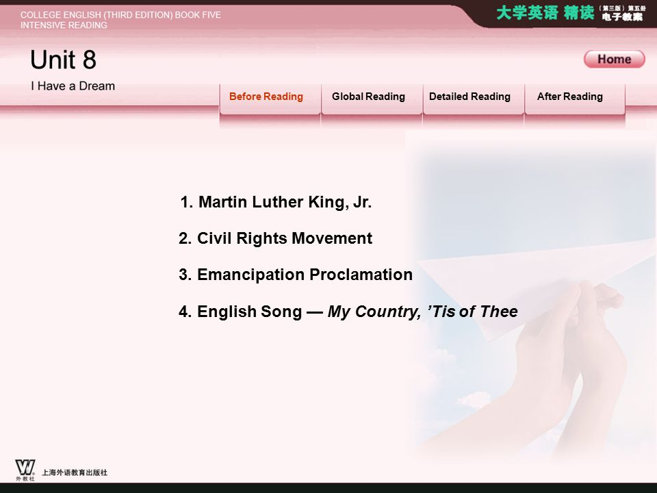 2. Civil Rights Movement BR_MAIN1 Before ReadingGlobal ReadingDetailed ReadingAfter Reading 3.