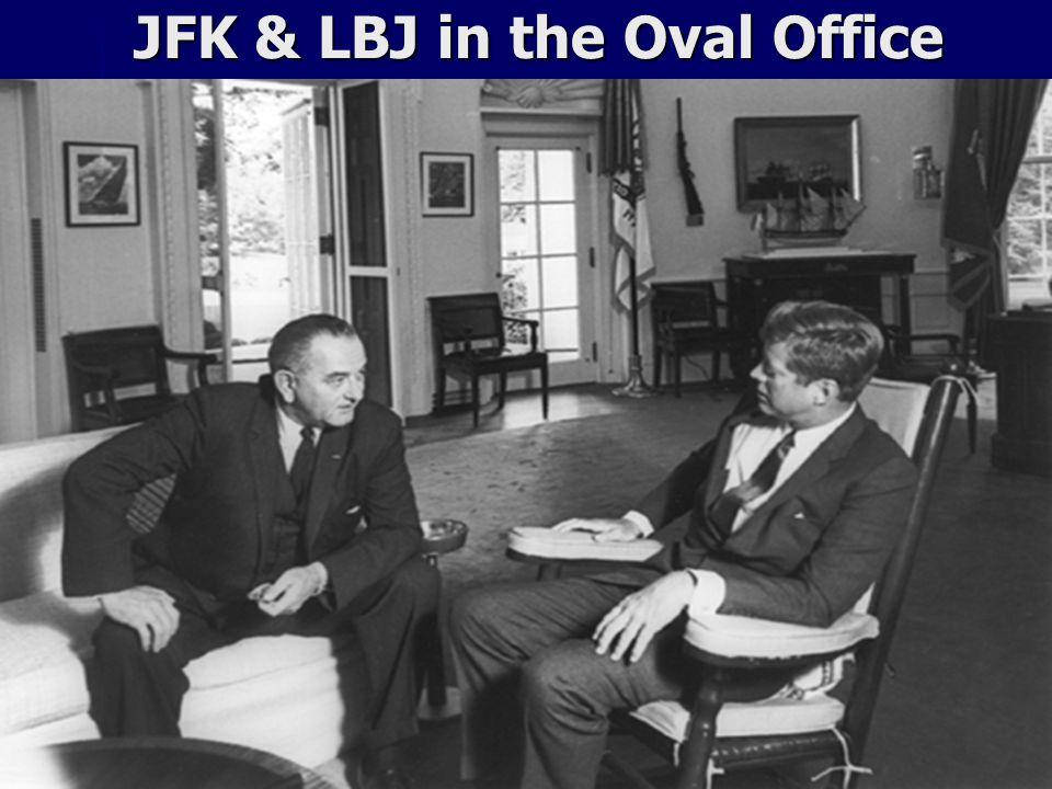 JFK & LBJ in the Oval Office