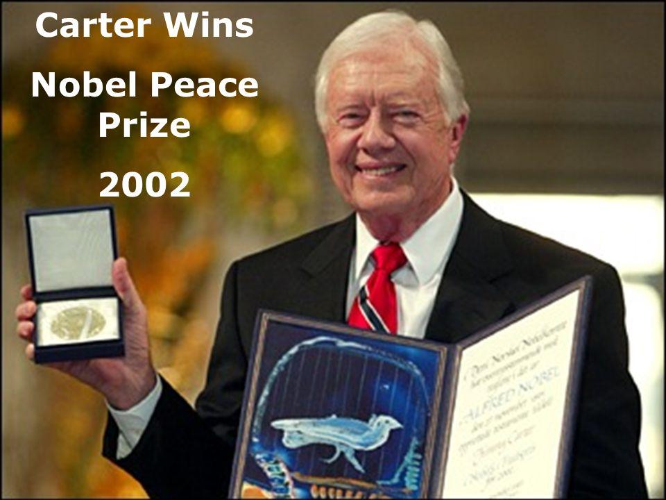 Carter Wins Nobel Peace Prize 2002