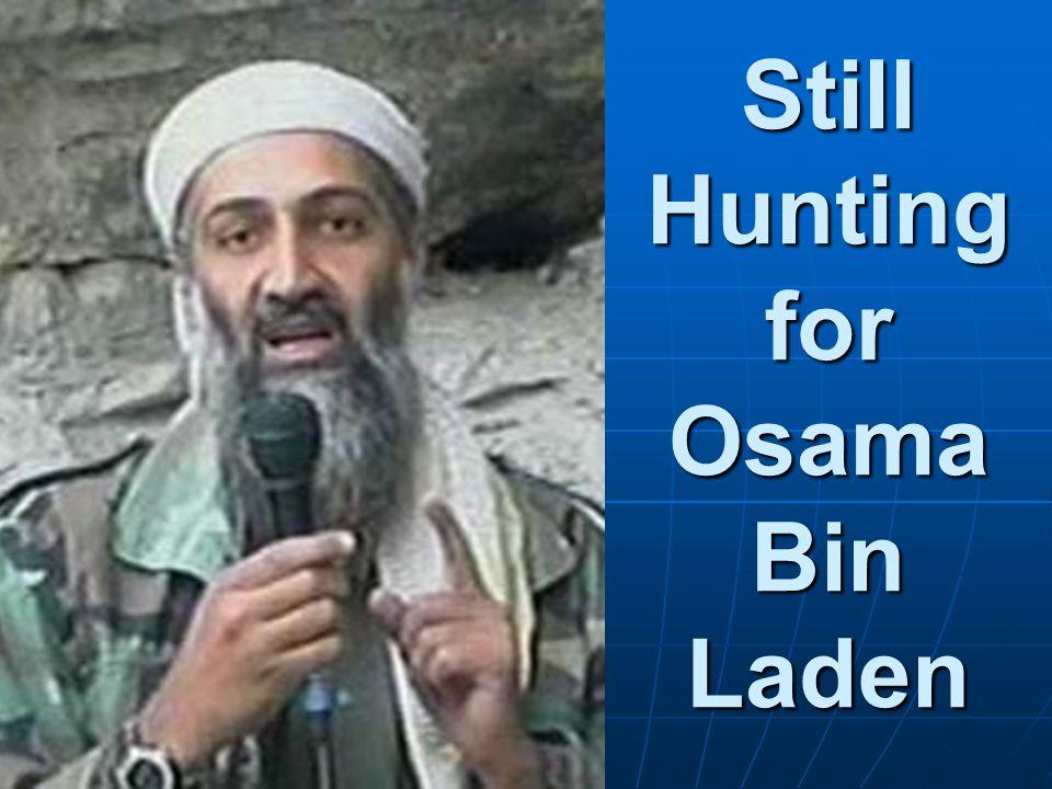 Still Hunting for Osama Bin Laden