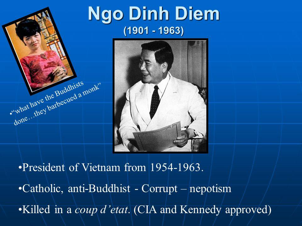 Ngo Dinh Diem (1901 - 1963) President of Vietnam from 1954-1963.