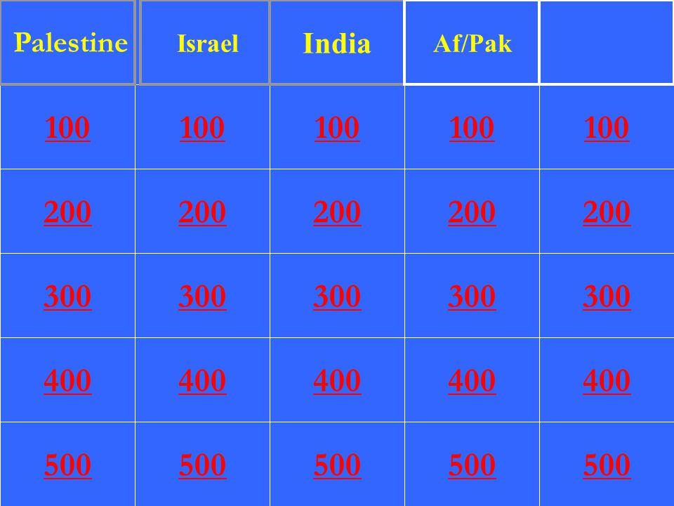 200 300 400 500 100 200 300 400 500 100 200 300 400 500 100 200 300 400 500 100 200 300 400 500 100 Palestine Israel India Af/Pak