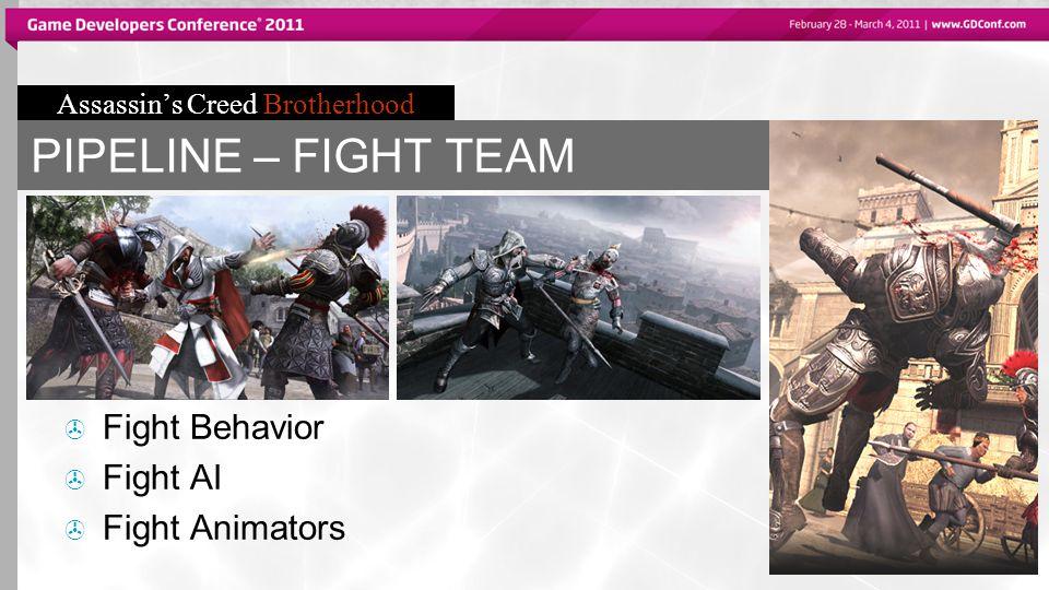 Assassin's Creed Brotherhood PIPELINE – FIGHT TEAM  Fight Behavior  Fight AI  Fight Animators