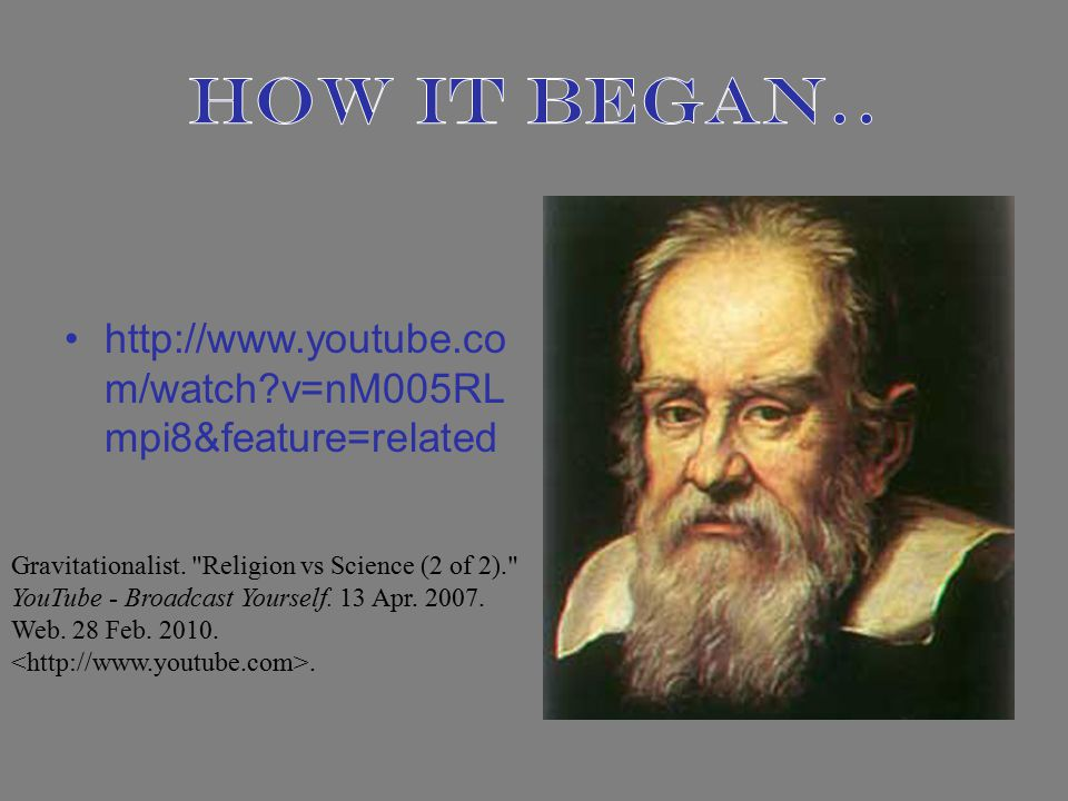 http://www.youtube.co m/watch v=nM005RL mpi8&feature=related Gravitationalist.