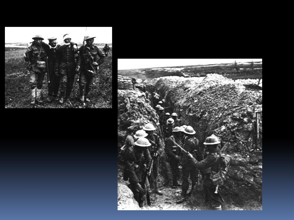 The Western Front  The western fighting line was called the Western Front  Great ditches called trenches were dug.