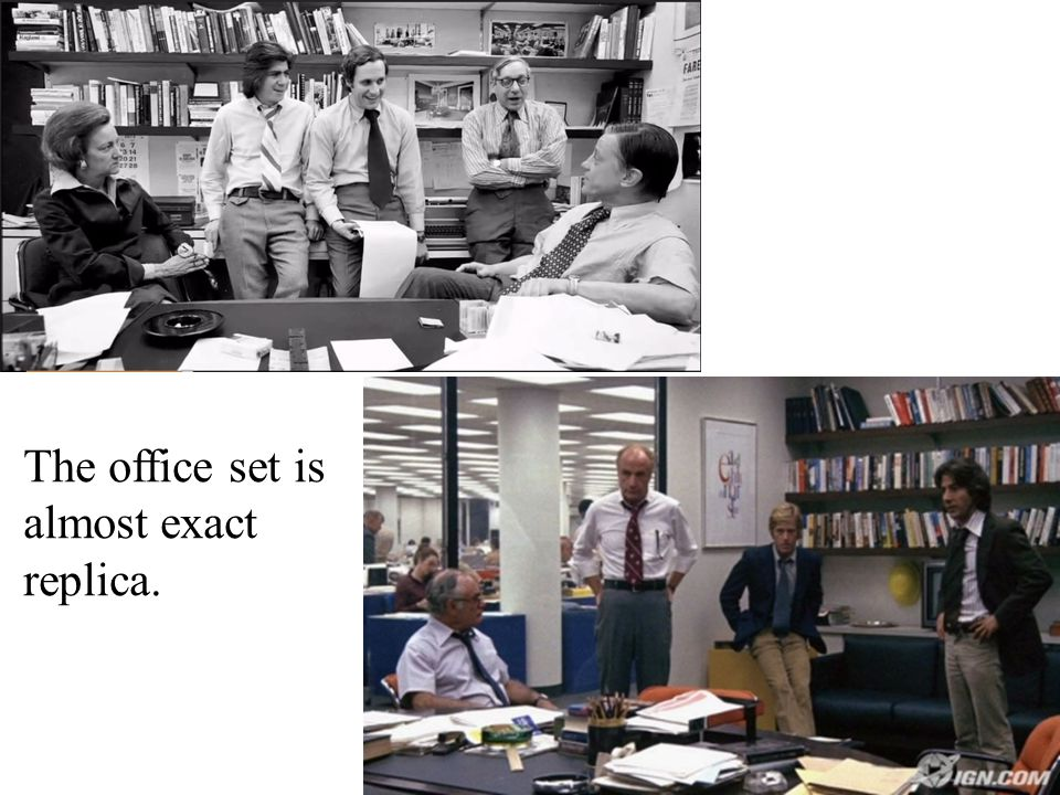 The office set is almost exact replica.