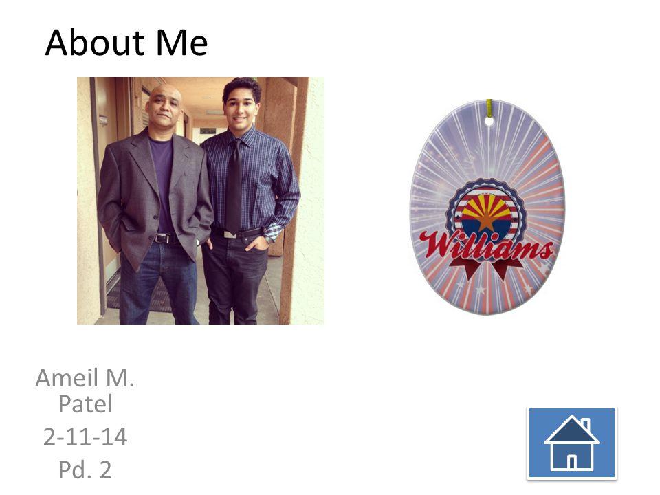 About Me Ameil M. Patel 2-11-14 Pd. 2