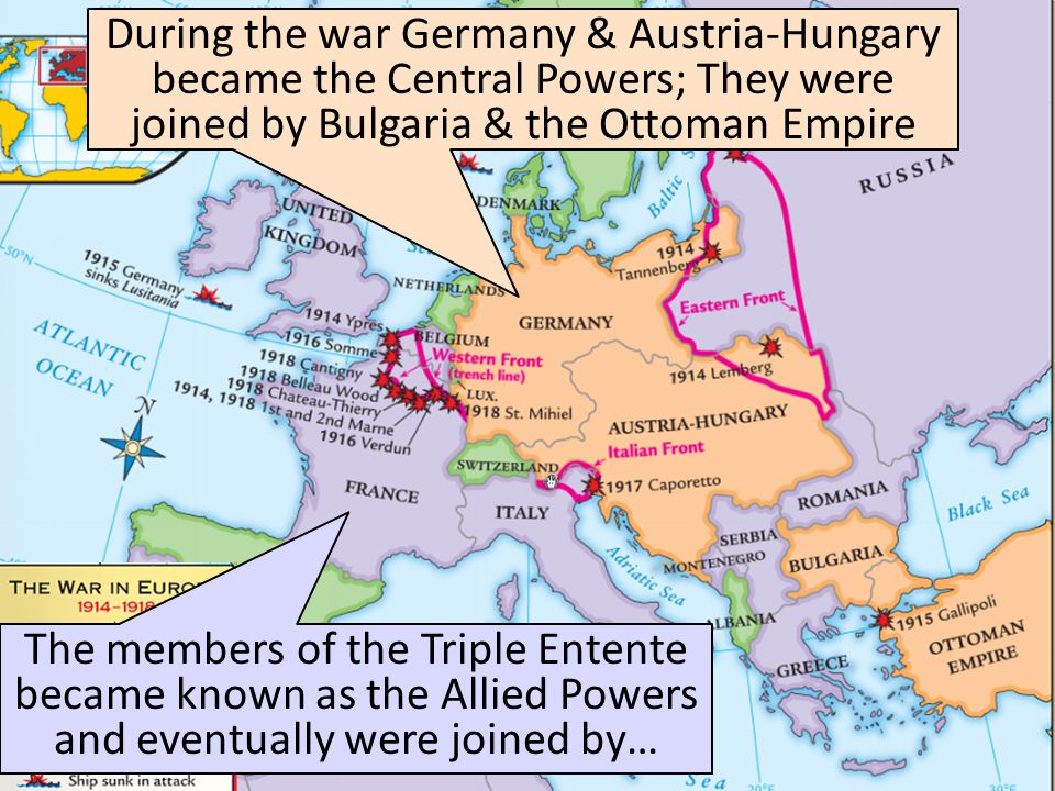 World War 1 Begins Austria-Hungary declared war on Serbia & its ally Russia On July 28,1914, Serbia declined the ultimatum On August 1, 1914, Germany