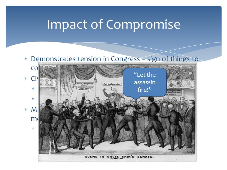 Past Essay Topics  Analyze the effectiveness of political compromise in reducing sectional tensions in the period 1820 to 1861.