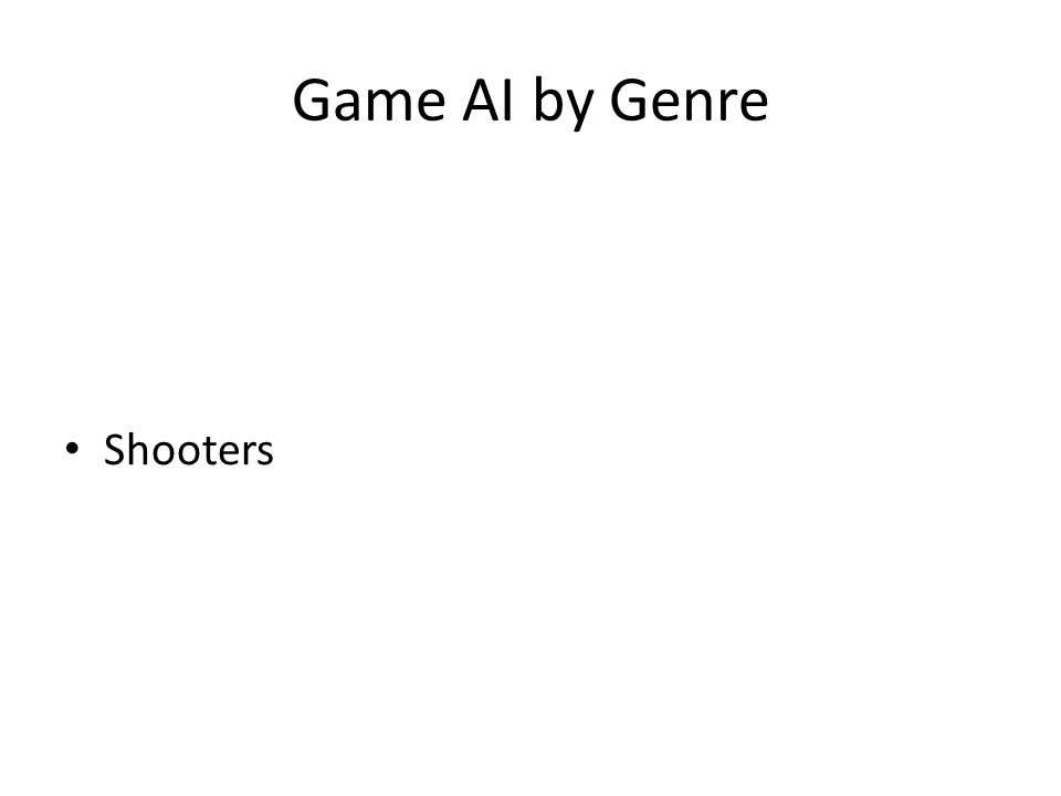 Game AI by Genre Shooters