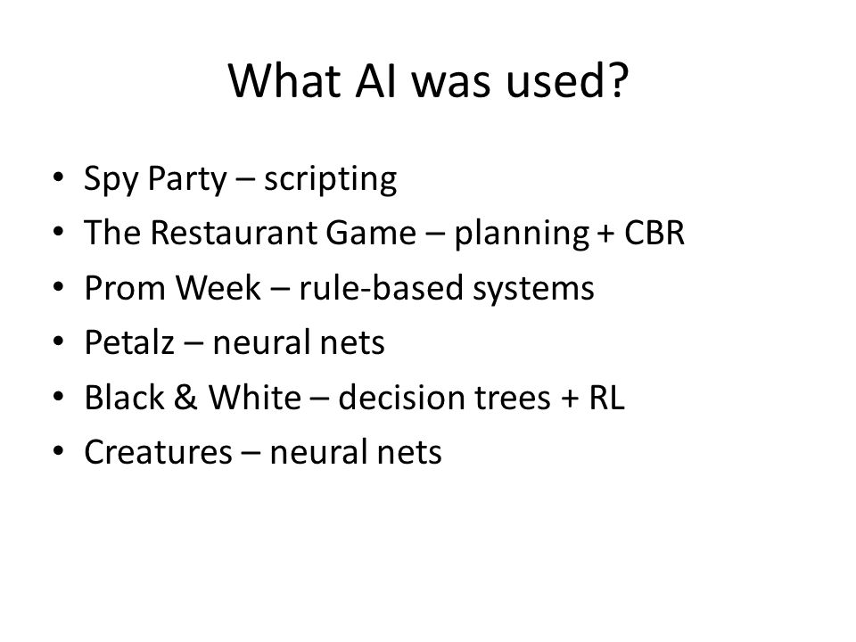What AI was used.