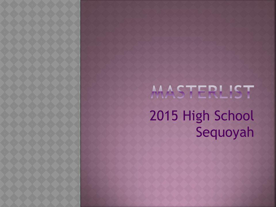 2015 High School Sequoyah
