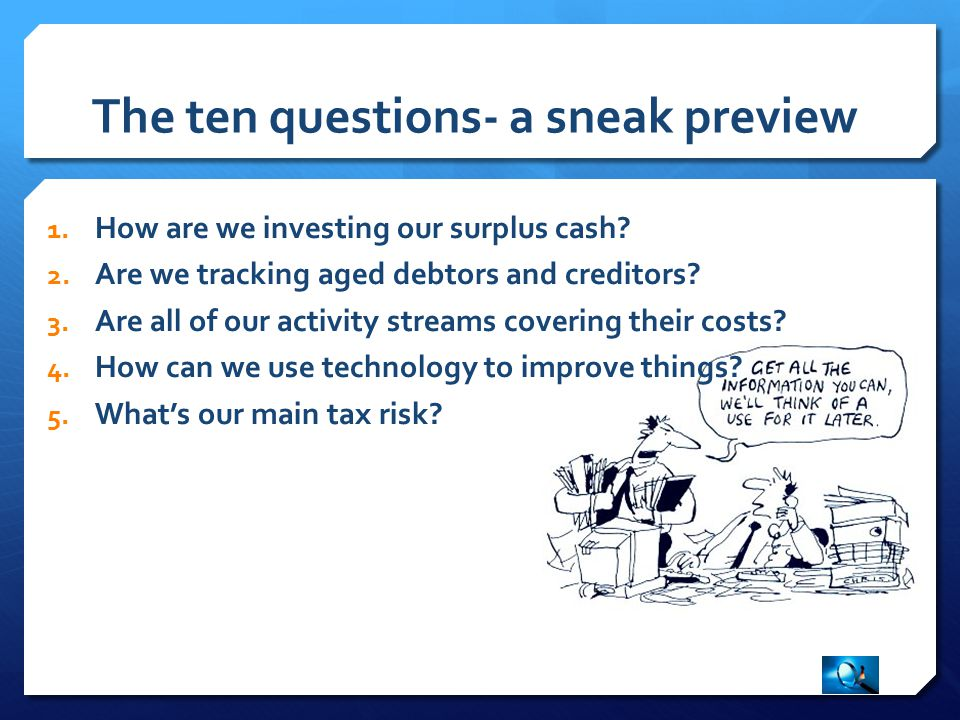Question 4; how can we use technology to improve things.