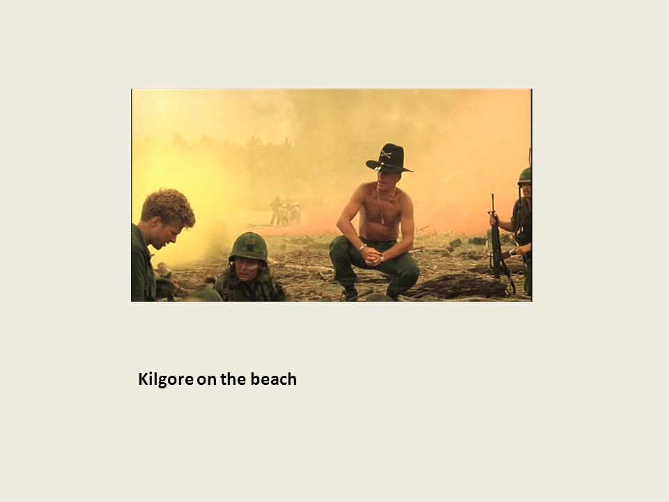 Kilgore on the beach