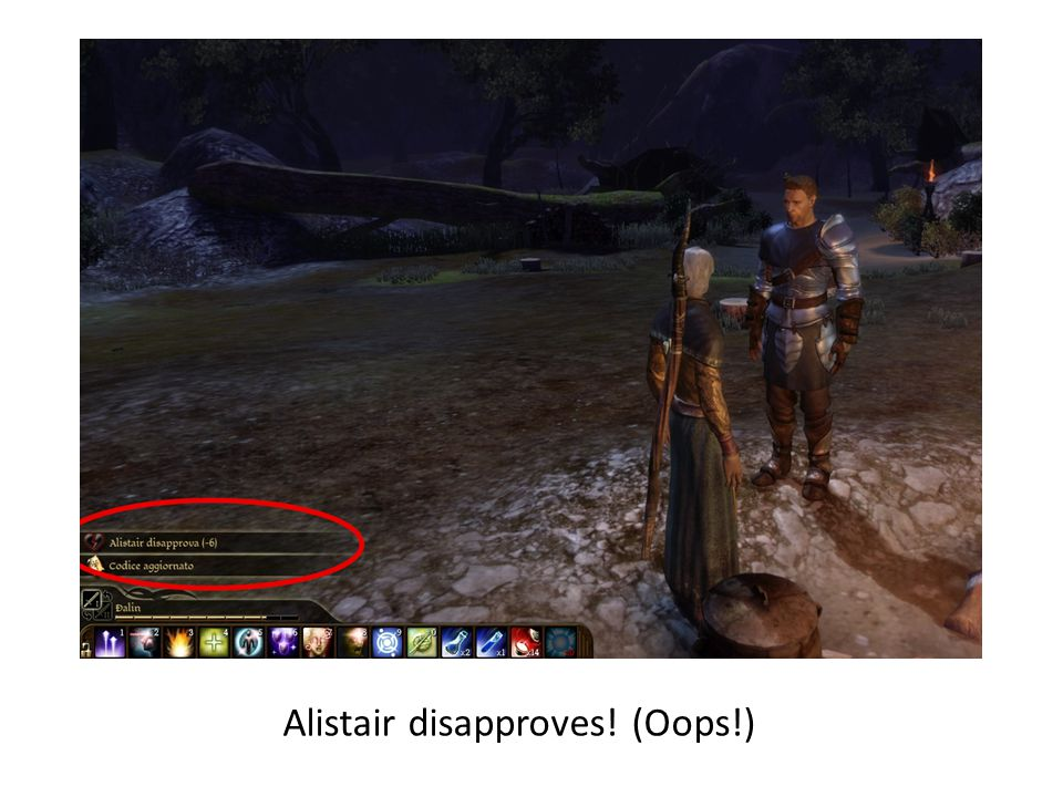 Alistair disapproves! (Oops!)