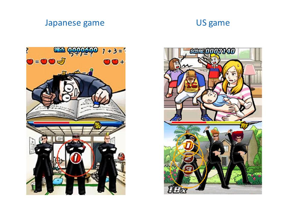 Japanese gameUS game