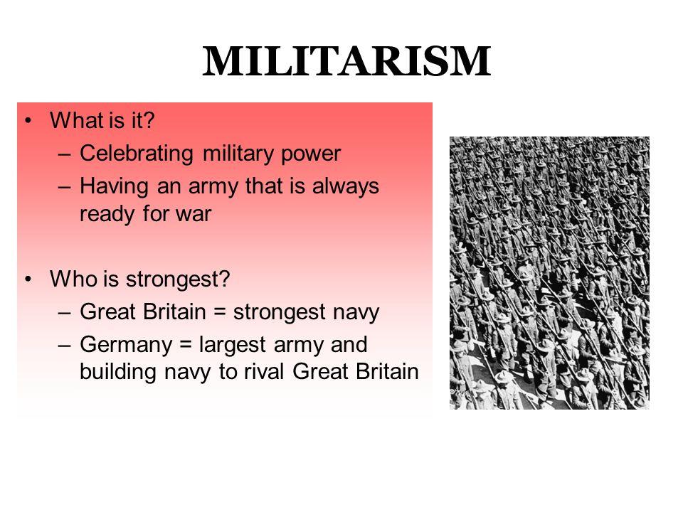 1. MILITARISM