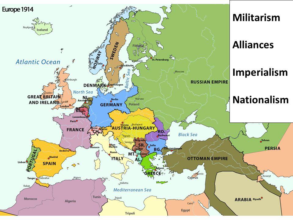 Militarism Alliances Imperialism Nationalism
