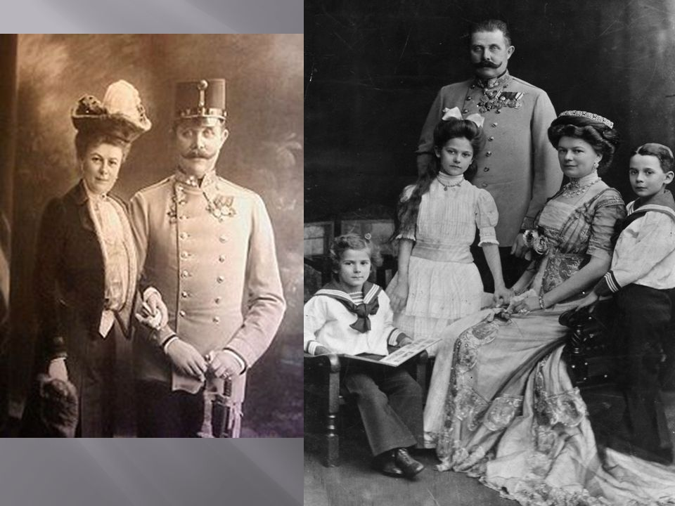  What: The assassination of the heir to the Austrian-Hungarian throne, The Arch-duke Francis Ferdinand and his wife Sophie, by Gavrilo Princip, a member of the Black Hand, a Serbian nationalist terrorist group  Where: Sarajevo, Bosnia (Territory of AH)  When: June 28, 1914