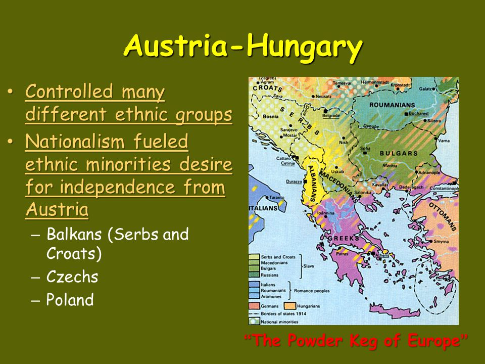 Austria-Hungary Leader: Leader: – Franz Joseph – The Dual Monarchy Austrian monarch and Hungarian monarchs shared power