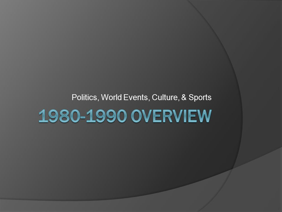 Politics, World Events, Culture, & Sports
