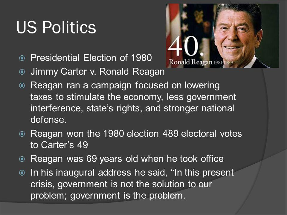 US Politics  Presidential Election of 1980  Jimmy Carter v.