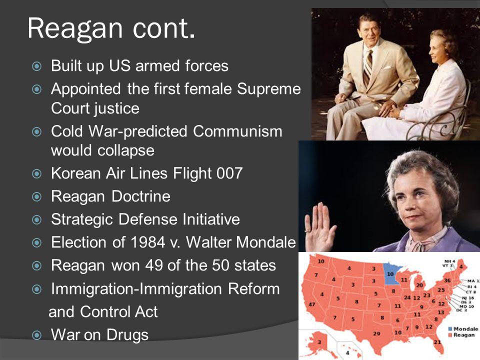 Reagan cont.