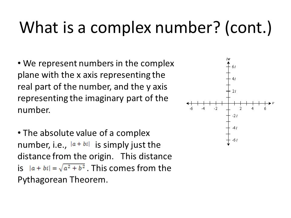 What is a complex number.
