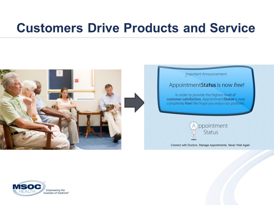 Customers Drive Products and Service