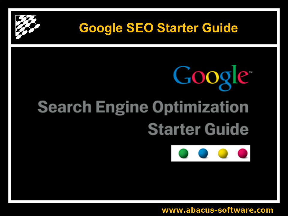 www.abacus-software.com Google SEO Starter Guide