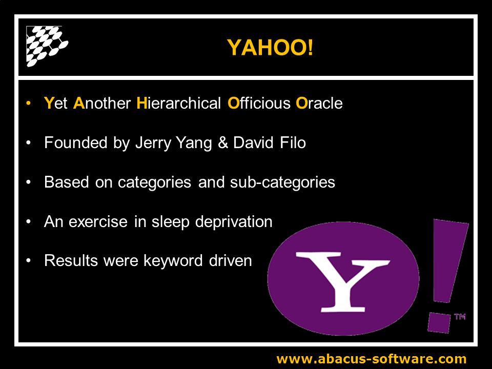 www.abacus-software.com YAHOO.
