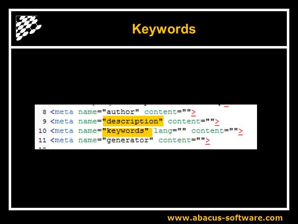 www.abacus-software.com Keywords