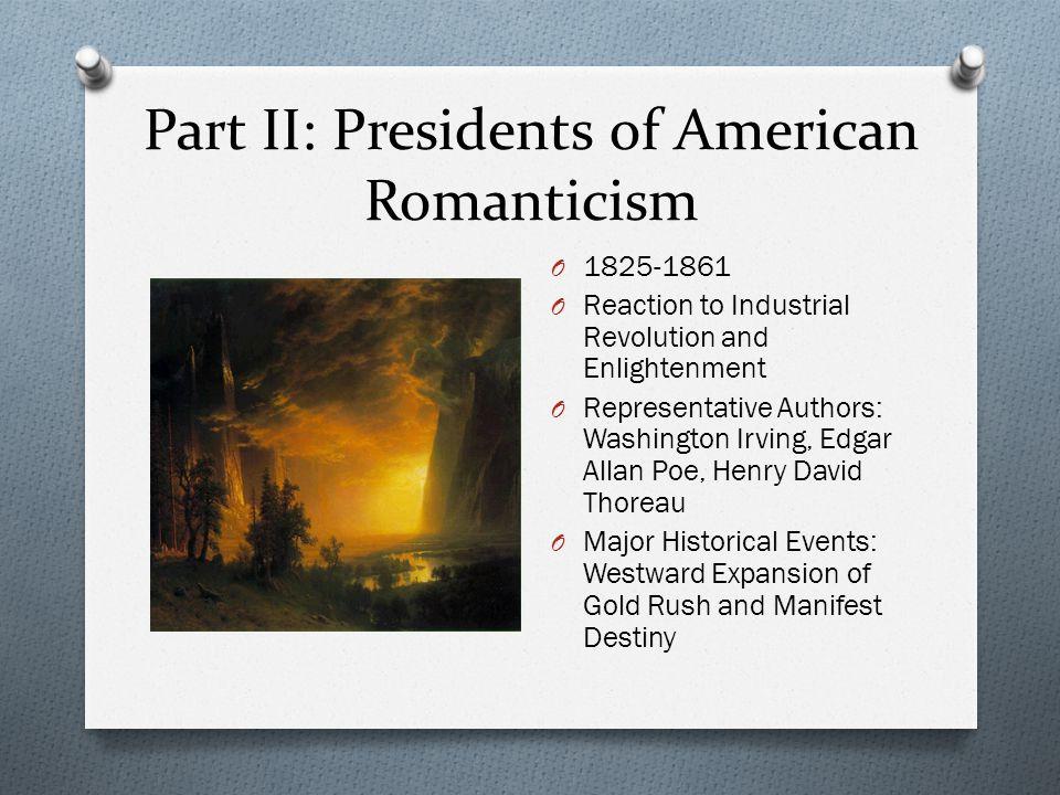 Part III: Presidents of American Realism O 1861-1913 O Inspired by brutality of Civil War O Representative Writers: Ambrose Bierce, Jack London, Stephen Crane O Major Historical Events: Civil War
