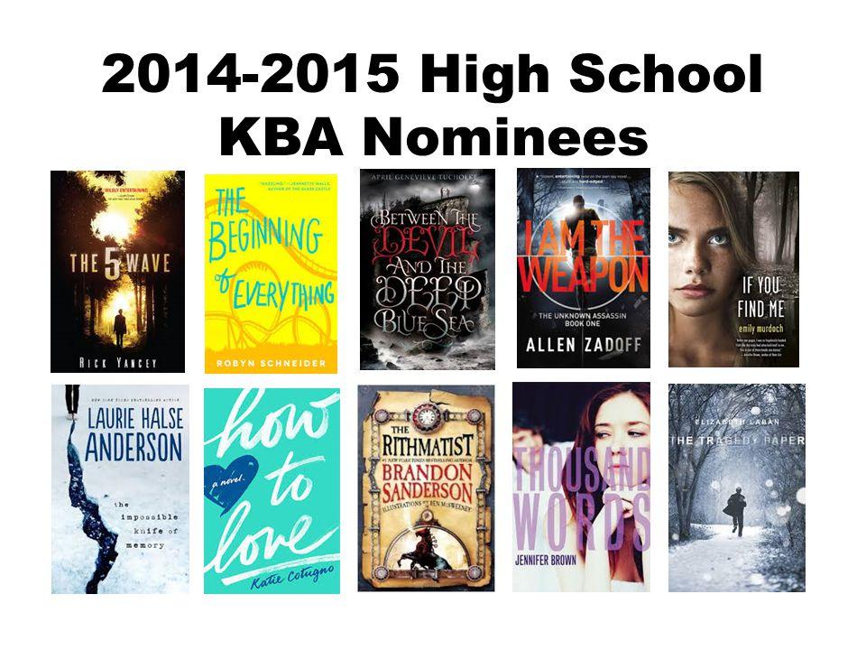 2014-2015 High School KBA Nominees