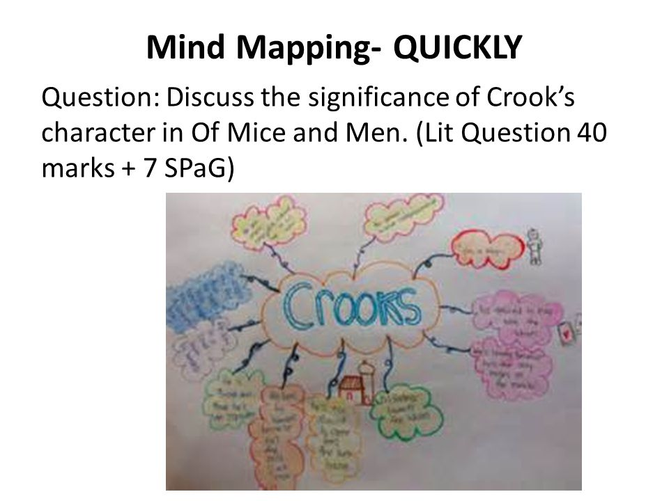 Your turn to Mind Map: Discuss the significance of Crook's character in Of Mice and Men.