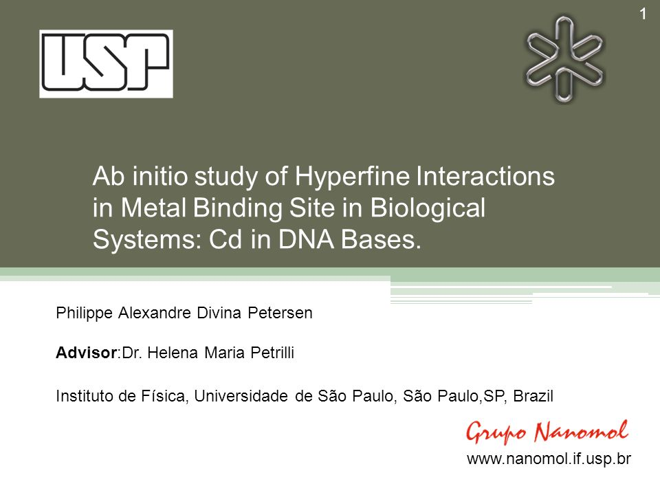 Results 12 Cd + DNA bases: Optimization of the molecular structure and EFG results.