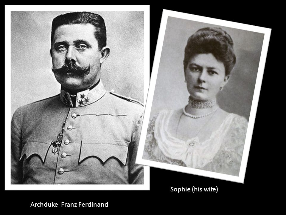  (6/28/1914) –Archduke Franz Ferdinand is assassinated Heir to the throne of Austria-Hungary Assassinated by a Serbian (Gavrilo Princip w