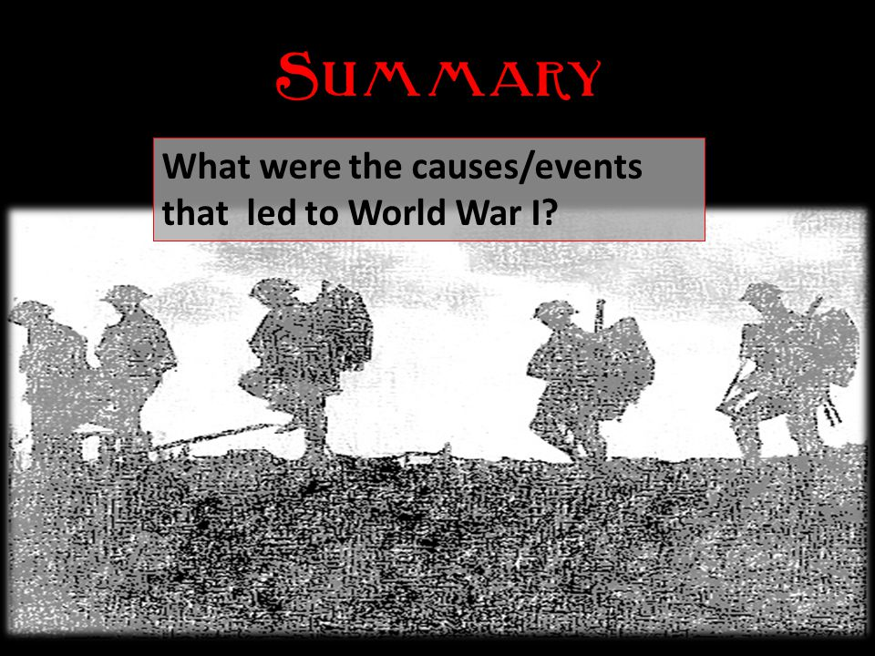 Causes of World War I Causes of World War I