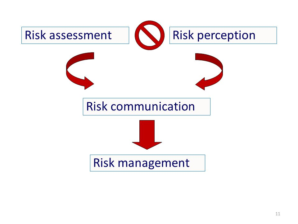 Risk assessmentRisk perception Risk communication Risk management 11