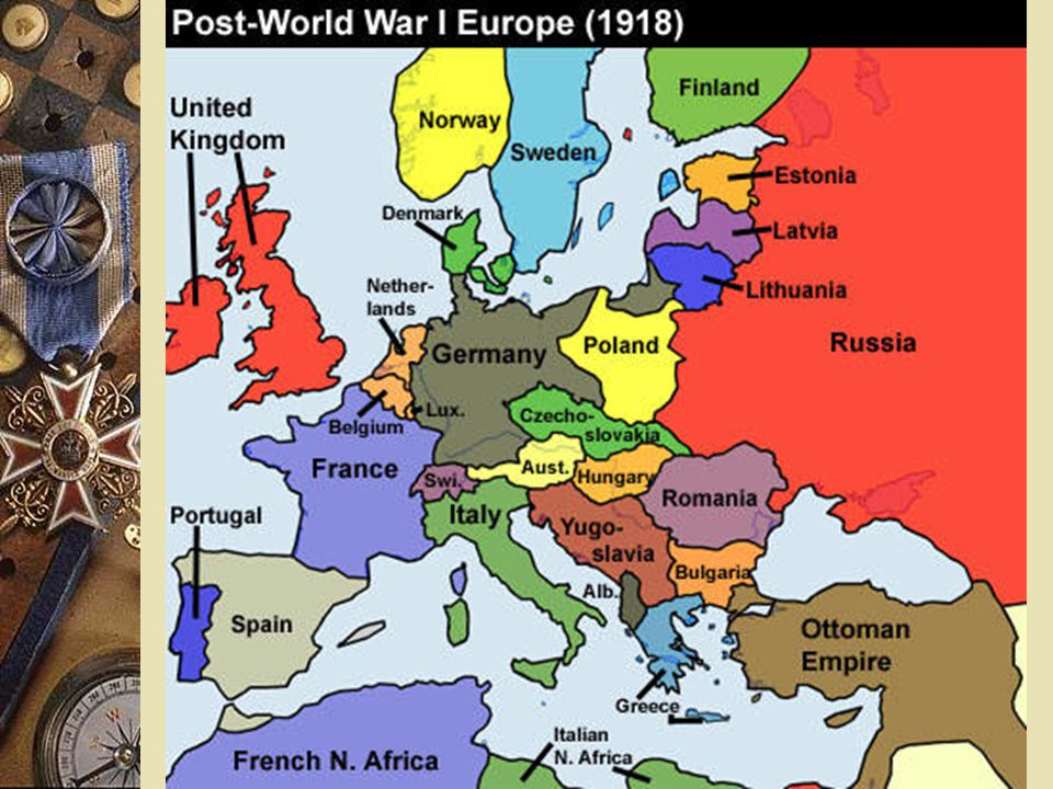 Versailles Treaty  Germany punished – war guilt, reparations, and disarmament  Leads to social and economic problems in Germany  Wilson's self-determination not granted around the world, only eastern Europe (see map)see map  Colonial peoples are dissatisfied, leads to independence movements (ex: Gandhi in India)