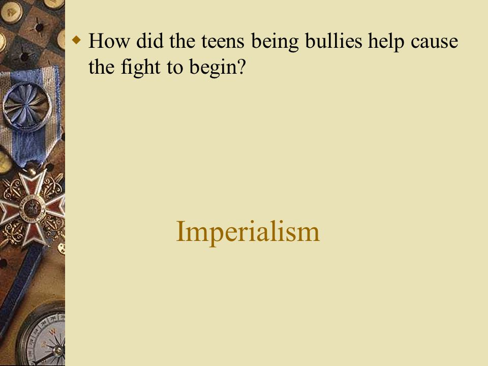 Alliances  How did the fact the teens made pacts to defend one another help start the brawl