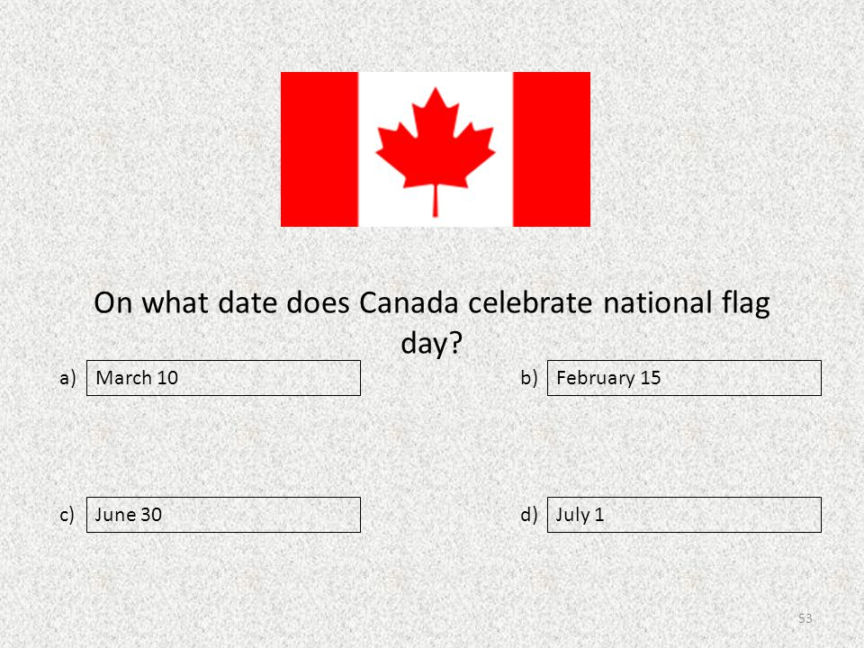 On what date does Canada celebrate national flag day.