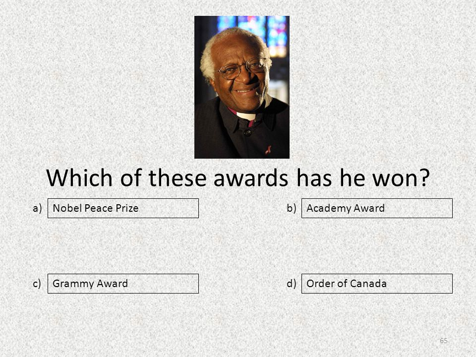 Which of these awards has he won.