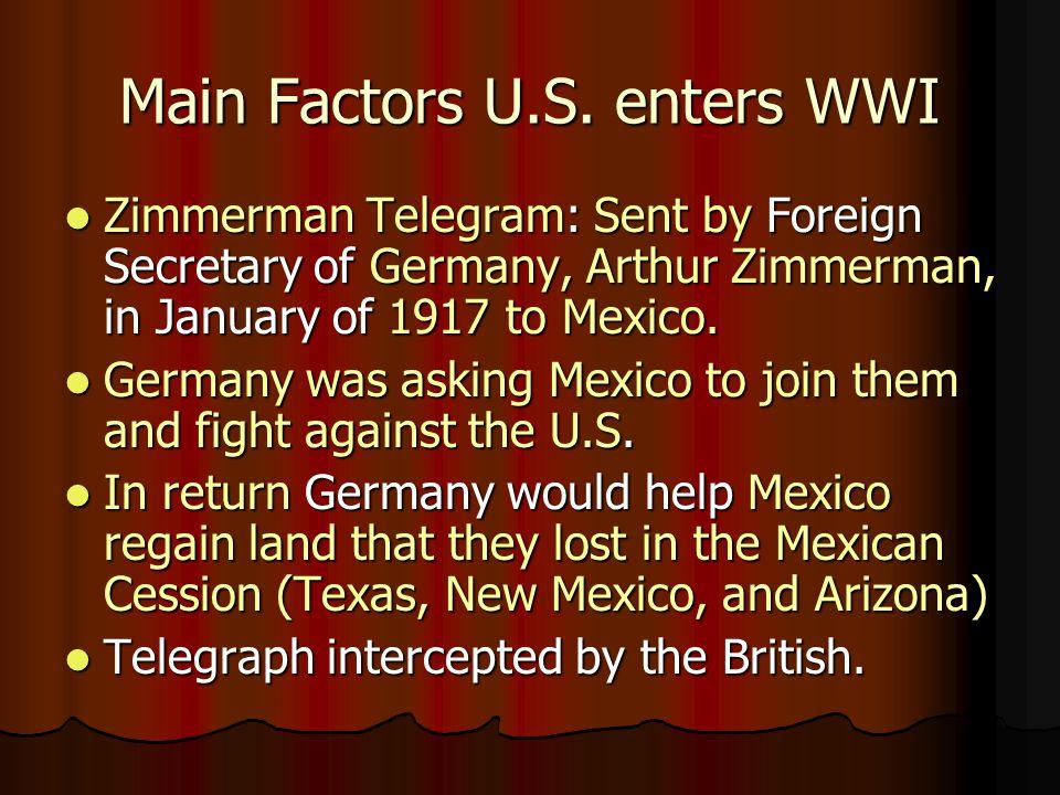 Main Factors U.S.
