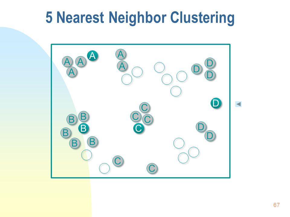 B B D D D D B B B B A A D D A A C C A A B B D D B B D D C C C C C C C C A A A A A A D D B B C C 5 Nearest Neighbor Clustering 67